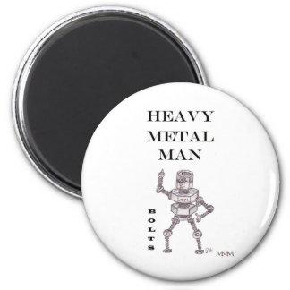 Pernos - hombre de metales pesados imán redondo 5 cm