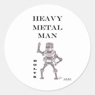 Pernos - hombre de metales pesados etiqueta