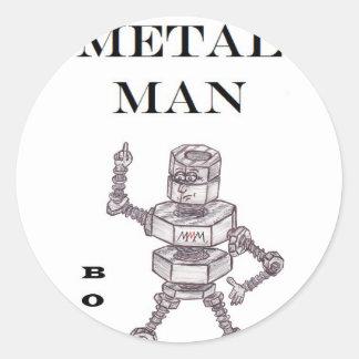Pernos - hombre de metales pesados etiqueta redonda