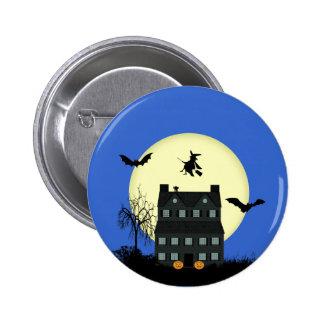 Pernos/insignias de la casa encantada de Halloween Pin Redondo De 2 Pulgadas