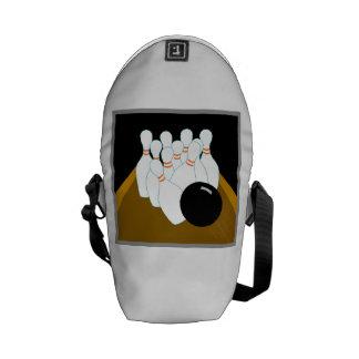 Pernos llamativos de la bola de bolos bolsas de mensajeria