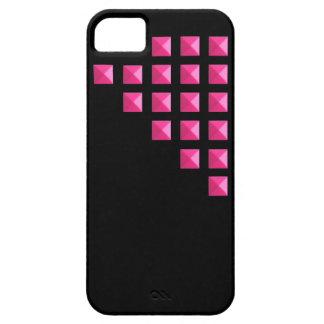 Pernos prisioneros rosados de neón iPhone 5 cárcasas
