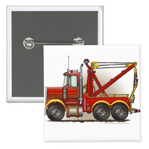 Pernos rojos del camión de auxilio de la grúa pins