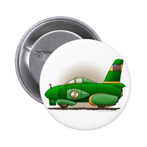 Pernos verdes del coche de carreras de la velocida pin