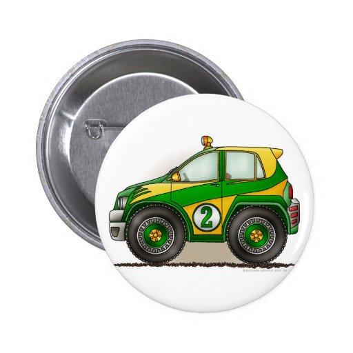 Pernos verdes del coche de la reunión pins