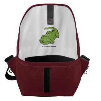 Pernos verdes gritadores del bolso de la taza del bolsa messenger