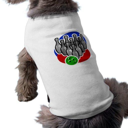 Pernos y bola de bolos ropa de perros
