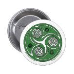 Pernos y botones célticos, espiral irlandés #1 del pins