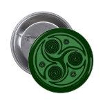 Pernos y botones célticos, irlandeses Triskel #4 e Pins