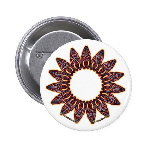 Pernos y botones célticos púrpuras de Knotwork del Pin