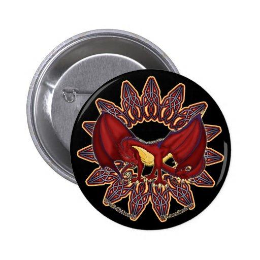 Pernos y botones del knotwork del dragón Galés en  Pins