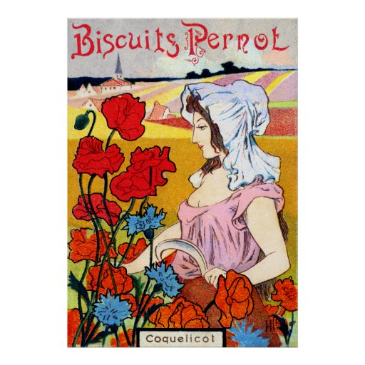Pernot 1900 Bisquits Póster