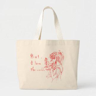 Pero amo el rojo del mundo [el chica del manga] bolsas de mano