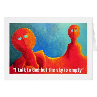 Pero el cielo está vacío tarjeta de felicitación