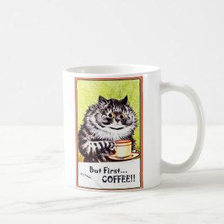 Pero gato Taza-Louis Wain del café de los abetos Taza De Café