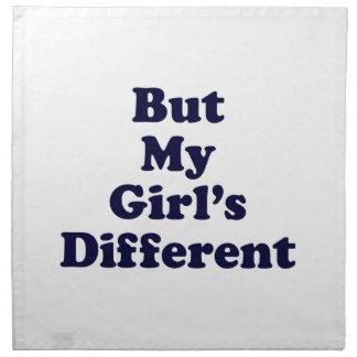 Pero mi chica diferente servilleta de papel