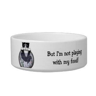 ¡Pero no estoy jugando con mi comida! Tazones Para Gatos