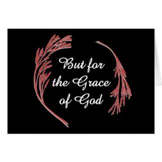 Pero para la gracia de Dios Tarjeta De Felicitación