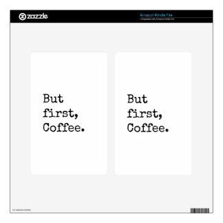 Pero primer café kindle fire pegatinas skins