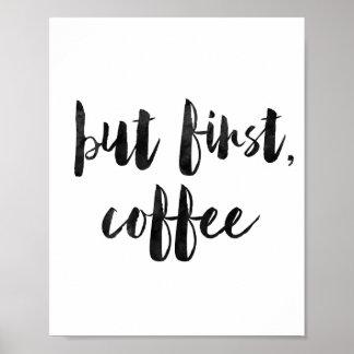 Pero primer café póster