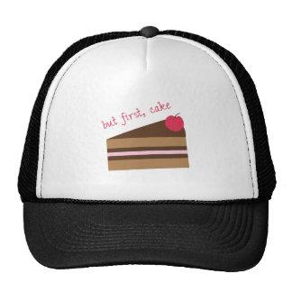 Pero primero, torta gorras de camionero