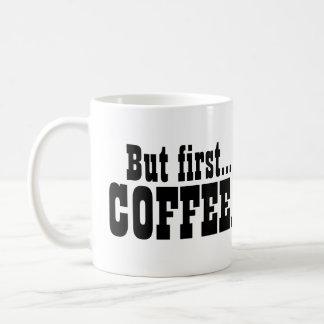 Pero primeros amantes del cafeína del café taza de café