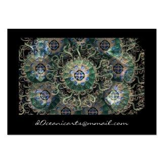 Peromedusae Mirrored Fine Art Large Business Card