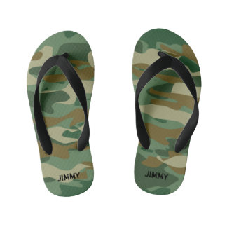 Peronalized army camo kids Flip Flops for children