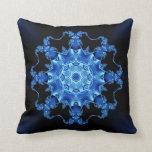 Peroné azul del esmalte almohadas