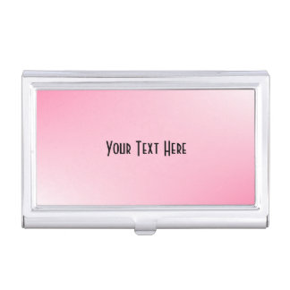 Perosnal Solid Gradient Pink Business Card Case