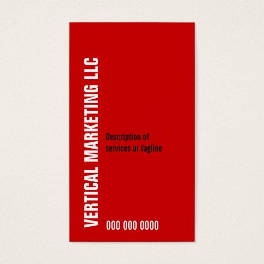 Perpendicular Type Business Card