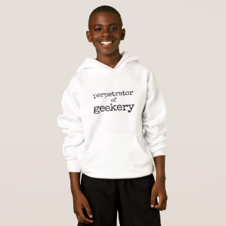 Perpetrator of Geekery Kids Hoodie