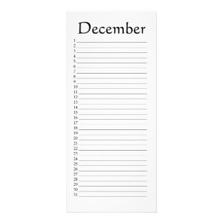 Perpetual Calendar December Psalm 136:6 Rack Card