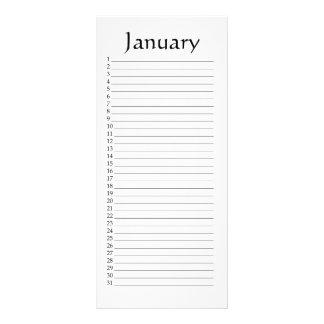 Perpetual Calendar January Psalm 29:3 Rack Card
