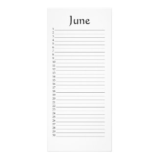 Perpetual Calendar June Micah 5:4 Rack Card