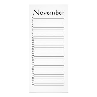 Perpetual Calendar November Job 37:22 Rack Card