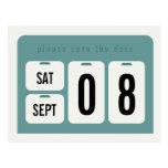 Perpetual Calendar Save the Date Announcement Postcard