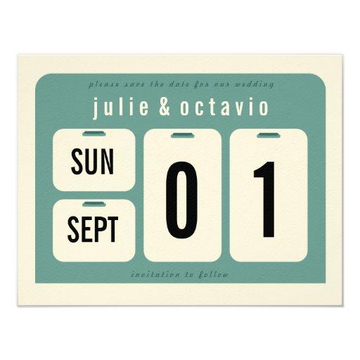 Perpetual Calendar Save the Date Card