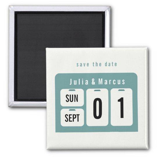 Perpetual Calendar Save the Date Wedding Magnet | Zazzle.com