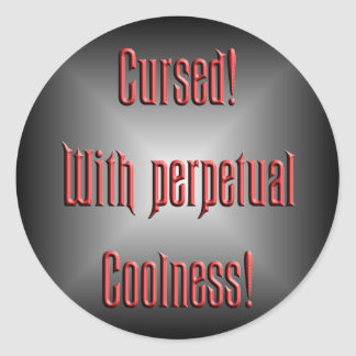 Perpetual Coolness Classic Round Sticker