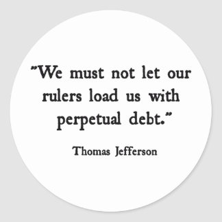 Perpetual Debt Classic Round Sticker