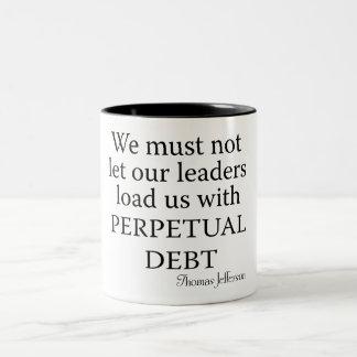Perpetual Debt Two-Tone Coffee Mug