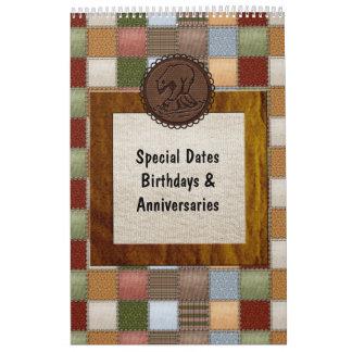 Perpetual Dutch Birthday Calendar - Country Charm