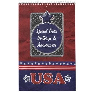 Perpetual Dutch Birthday Calendar - USA Pride