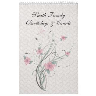 Perpetual Dutch Birthday Calendar Vintage Lace
