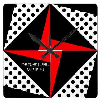 Perpetual Motion Square Wall Clock