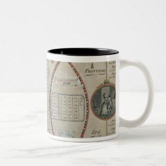 Perpetual Republican Calendar, June 1801 Two-Tone Coffee Mug