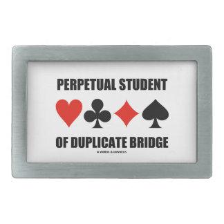 Perpetual Student Of Duplicate Bridge (Card Suits) Belt Buckle