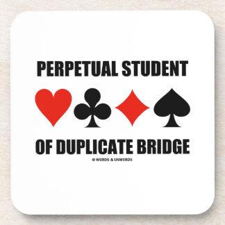 Perpetual Student Of Duplicate Bridge (Card Suits) Beverage Coaster