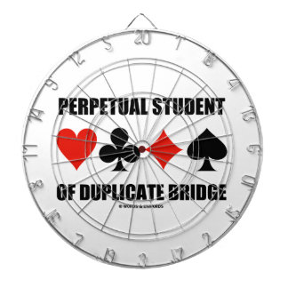 Perpetual Student Of Duplicate Bridge (Card Suits) Dartboard With Darts